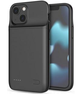 """Juodas dėklas su papildoma 4700mAh baterija Apple iPhone 12 Mini / 13 Mini telefonui """"Tech-Protect Powercase"""""""