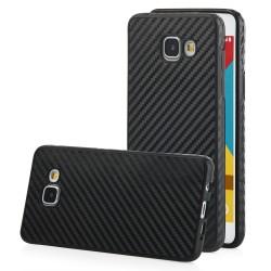 "Juodas CARBON dėklas Samsung Galaxy A5 2016 telefonui ""Qult Carbon"""