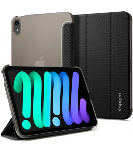 """Juodas atverčiamas dėklas Apple iPad Mini 6 2021 planšetei """"Spigen Liquid Air Folio"""""""