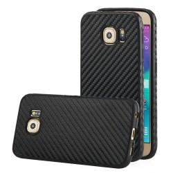 """Juodas CARBON dėklas Samsung Galaxy S6 G920 telefonui """"Qult Carbon"""""""
