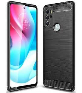 """Juodas dėklas Motorola Moto G60s telefonui """"Tech-Protect TPUCarbon"""""""