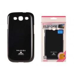 """Juodas dėklas Mercury Goospery """"Jelly Case"""" Samsung Galaxy S3 telefonui"""