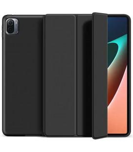 """Juodas atverčiamas dėklas Xiaomi Pad 5 / 5 Pro planšetei """"Tech-Protect Smartcase"""""""