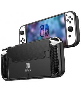 """Juodas dėklas Nintendo Switch oLed kompiuteriui """"Tech-Protect Tpucarbon"""""""