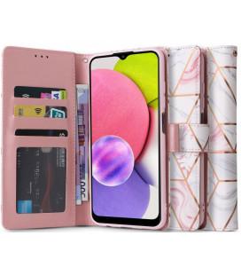 """Atverčiamas dėklas Samsung Galaxy A03s telefonui """"Tech-protect Wallet Marble"""""""