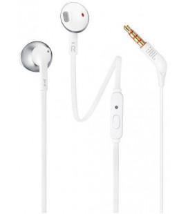 "Baltos ausinės 3.5mm ""JBL T205 In-Ear Headset"""