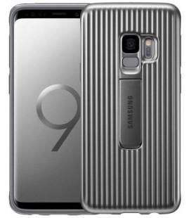 """Originalus sidabrinės spalvos dėklas """"Protective Standing Cover"""" Samsung Galaxy S9 telefonui """"EF-RG960CSE"""""""