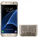 """Originalus auksinės spalvos dėklas """"Keyboard Cover"""" su klaviatūra Samsung Galaxy S6 Edge telefonui ej-cg925ufe"""
