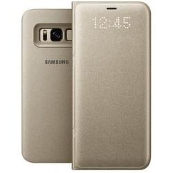 """Originalus auksinės spalvos dėklas """"LED View Cover"""" Samsung Galaxy S8 G955 telefonui ef-ng950pfe"""