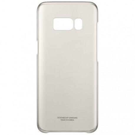 """Originalus auksinės spalvos dėklas """"Clear Cover"""" Samsung Galaxy S8+ G955 telefonui ef-qg955cfe"""