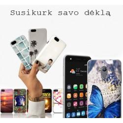 "Skaidrus silikoninis dėklas Sony Xperia M5 telefonui ""Fitty Double"""