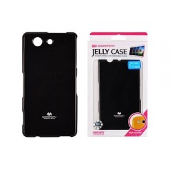 "Juodas dėklas Mercury Goospery ""Jelly Case"" Sony Xperia Z3 Compact telefonui"