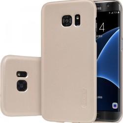 """Auksinės spalvos plastikinis dėklas Samsung Galaxy S7 Edge G935 telefonui """"Nillkin Frosted Shield"""""""
