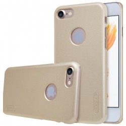 """Auksinės spalvos plastikinis dėklas Apple iPhone 7 telefonui """"Nillkin Frosted Shield"""""""