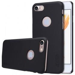 """Juodas plastikinis dėklas Apple iPhone 7 telefonui """"Nillkin Frosted Shield"""""""