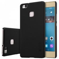 """Juodas plastikinis dėklas Huawei P9 Lite telefonui """"Nillkin Frosted Shield"""""""