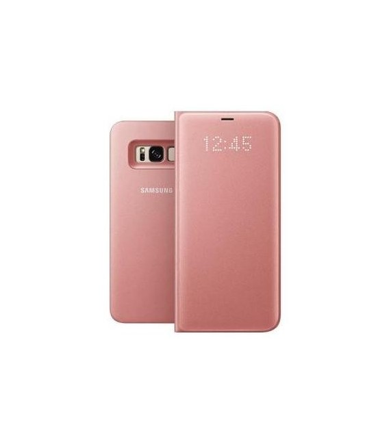 "Originalus rožinis dėklas ""LED View Cover"" Samsung Galaxy S8+ telefonui ef-ng955ppe"