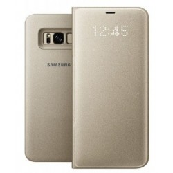 """Originalus auksinės spalvos dėklas """"LED View Cover"""" Samsung Galaxy S8+ telefonui ef-ng955pfe"""