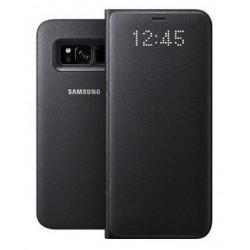 """Originalus juodas dėklas """"LED View Cover"""" Samsung Galaxy S8 Plus telefonui ef-ng955pbe"""