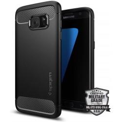 """Juodas dėklas Samsung Galaxy S7 Edge telefonui """"Spigen Rugged Armor"""""""