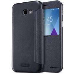 """Atverčiamas juodas dėklas Samsung Galaxy A5 2017 A520 telefonui """"Nillkin Sparkle S-View"""""""
