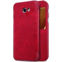 """Odinis raudonas atverčiamas dėklas Samsung Galaxy A5 2017 A520 telefonui """"Nillkin Qin S-View"""""""