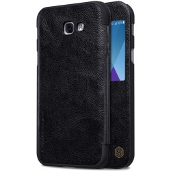 """Odinis juodas atverčiamas dėklas Samsung Galaxy A5 2017 telefonui """"Nillkin Qin S-View"""""""