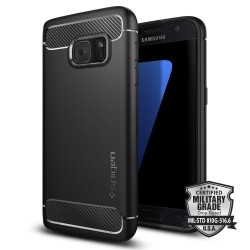 """Juodas dėklas Samsung Galaxy S7 telefonui """"Spigen Rugged Armor"""""""
