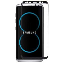 Lenktas juodas apsauginis grūdintas stiklas Samsung Galaxy S8 G950 telefonui