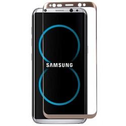 Lenktas auksinės spalvos apsauginis grūdintas stiklas Samsung Galaxy S8 G950 telefonui