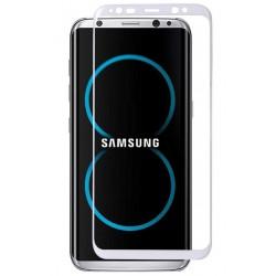 Lenktas baltas apsauginis grūdintas stiklas Samsung Galaxy S8 Plus + G955 telefonui