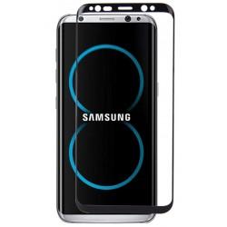 Lenktas juodas apsauginis grūdintas stiklas Samsung Galaxy S8 Plus + G955 telefonui