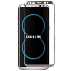 Lenktas auksinės spalvos apsauginis grūdintas stiklas Samsung Galaxy S8 Plus + G955 telefonui