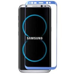 Lenktas mėlynas apsauginis grūdintas stiklas Samsung Galaxy S8 Plus + G955 telefonui
