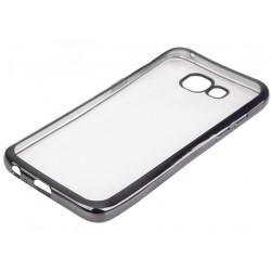 """Juodas silikoninis dėklas Samsung Galaxy A5 2017 telefonui """"Glossy"""""""