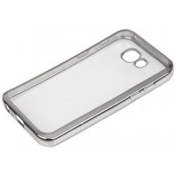 """Sidabrinės spalvos silikoninis dėklas Samsung Galaxy A5 2017 A520 telefonui """"Glossy"""""""
