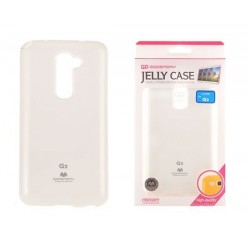 """Baltas dėklas Mercury Goospery """"Jelly Case"""" LG G2 Mini telefonui"""