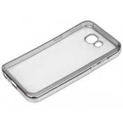 """Sidabrinės spalvos silikoninis dėklas Samsung Galaxy A3 2017 A320 Telefonui """"Glossy"""""""
