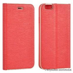 """Raudonas atverčiamas dėklas su rėmeliu Samsung Galaxy A5 2017 A520 telefonui """"Book Vennus Z"""""""