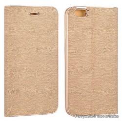 """Auksinės spalvos atverčiamas dėklas su rėmeliu Samsung Galaxy A5 2017 A520 telefonui """"Book Vennus Z"""""""
