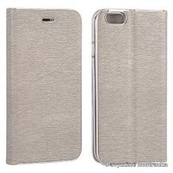 """Pilkas atverčiamas dėklas su rėmeliu Samsung Galaxy A5 2017 A520 telefonui """"Book Vennus Z"""""""