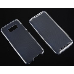 """Skaidrus silikoninis dėklas Samsung Galaxy S8 telefonui """"Fitty Double"""""""