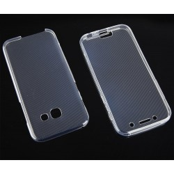 """Skaidrus silikoninis dėklas Samsung Galaxy A3 2017 telefonui """"Fitty Double"""""""