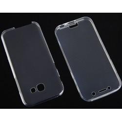 """Skaidrus silikoninis dėklas Samsung Galaxy A5 2017 telefonui """"Fitty Double"""""""