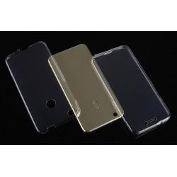 """Skaidrus silikoninis dėklas Huawei P8/P9 Lite 2017 telefonui """"Fitty Double"""""""