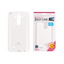 """Baltas dėklas Mercury Goospery """"Jelly Case"""" LG G3s telefonui"""