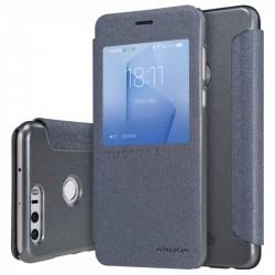 """Atverčiamas juodas dėklas Huawei Honor 8 telefonui """"Nillkin Sparkle S-View"""""""