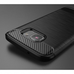 """Raudonas silikoninis dėklas Samsung Galaxy J1 2016 telefonui """"Jelly Metallic"""""""