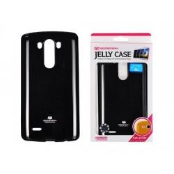 """Juodas dėklas Mercury Goospery """"Jelly Case"""" LG G3 telefonui"""
