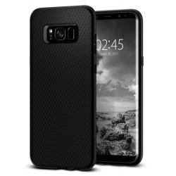 """Juodas dėklas Samsung Galaxy S8 Plus G955 telefonui """"Spigen Liquid Air"""""""